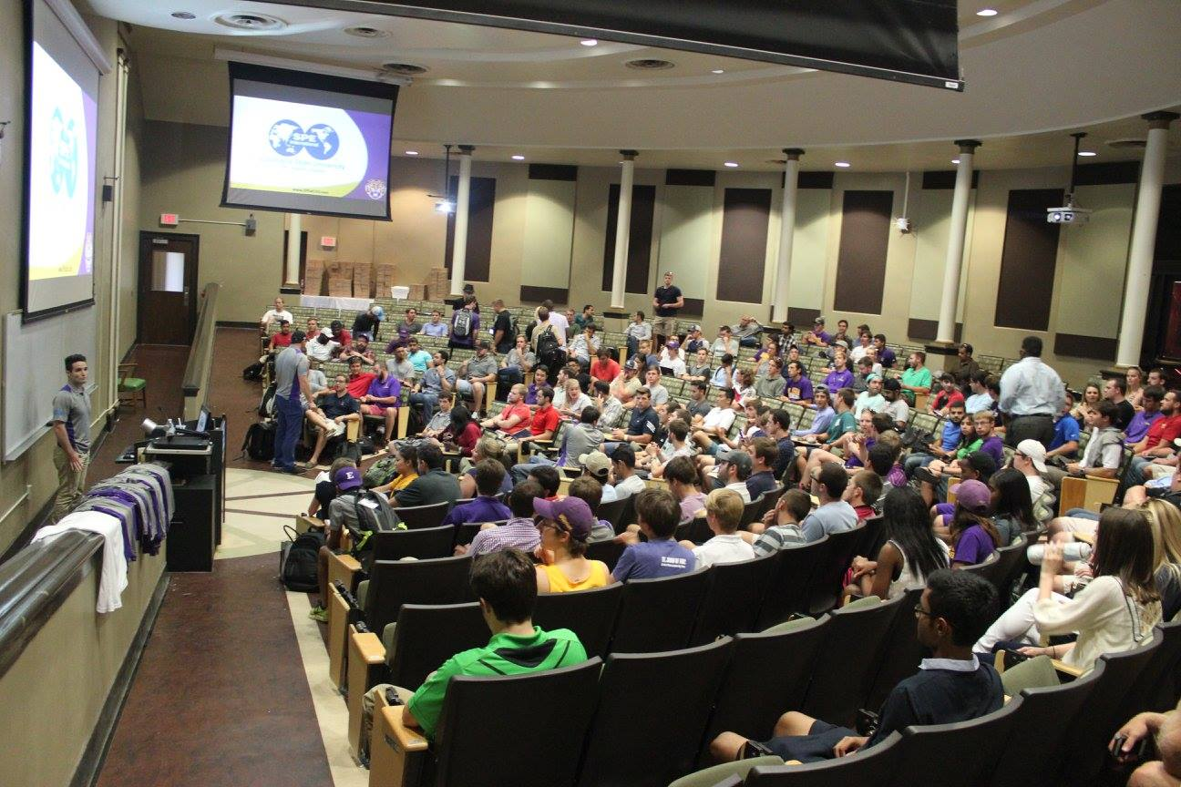 Anadarko gave a presentation at the first meeting of the semester