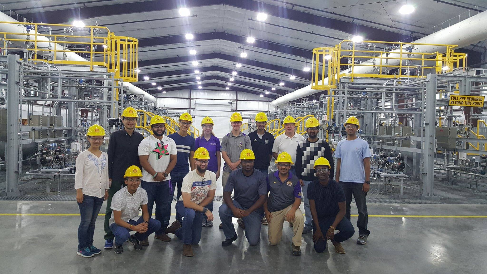 LSU SPE students visit the Shell Robert Training Center